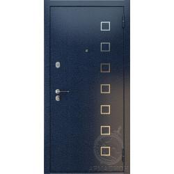 Дверь входная «Вена» антик синий/дуб мокко