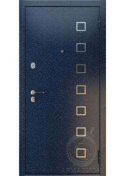 Дверь входная «Вена» антик синий/сандал светлый