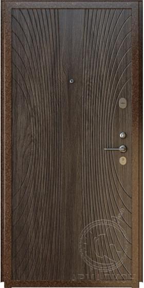 Дверь входная «Вена» крокодил коричневый/дуб мокко