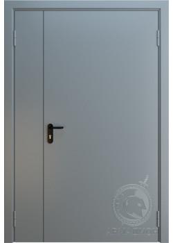 Противопожарная двустворчатая дверь EI 60 РАЛ 7001