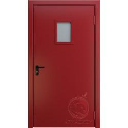 Противопожарная одностворчатая дверь с окном EI 60 РАЛ 3002